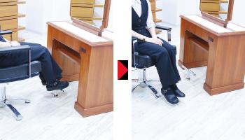 床固定式フットレスト シングルバータイプ