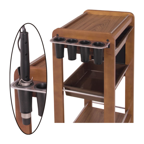 木製ワゴン アイロンホルダー付