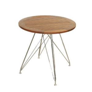 チーク材チェアー ジャティ&丸テーブル