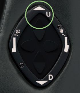 シートアークスライドシステムのボタン
